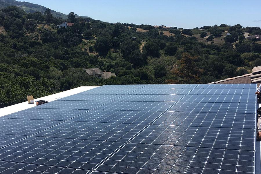 commercial solar installation monterey