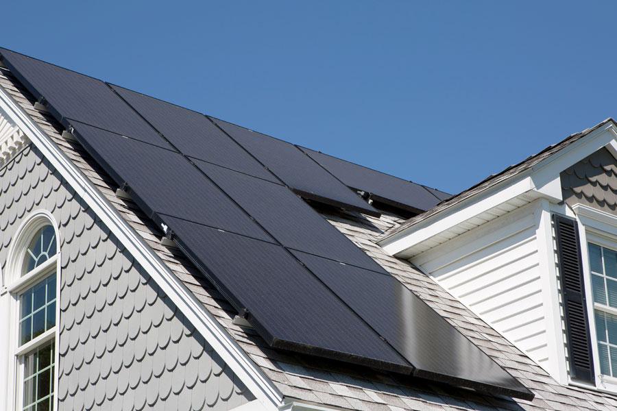 Residential solar installation in Monterey